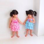 撮影へ。双子キッズモデル。1歳9ヶ月の撮影風景