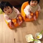 双子のお食事事情。【離乳食初期・中期】