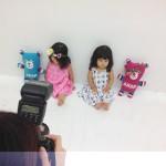 双子 キッズモデル撮影へ。2歳1ヶ月の双子姉妹