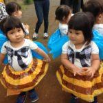 双子姉妹、初めての運動会。2歳3ヶ月の保育園運動会