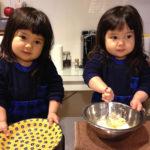 双子と初めてのお菓子作り。2歳8ヶ月の双子育児